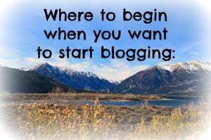 Beginning Blogging